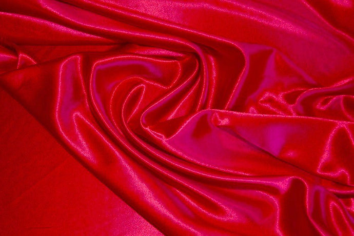 Red Crepe Back Satin-WHOLESALE FABRIC- 15 Yard Bolt