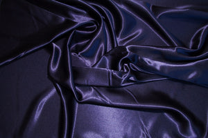 Navy Crepe Back Satin Fabric
