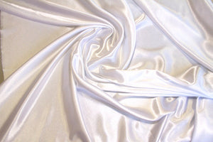 White Crepe Back Satin - WHOLESALE FABRIC - 15 Yard Bolt
