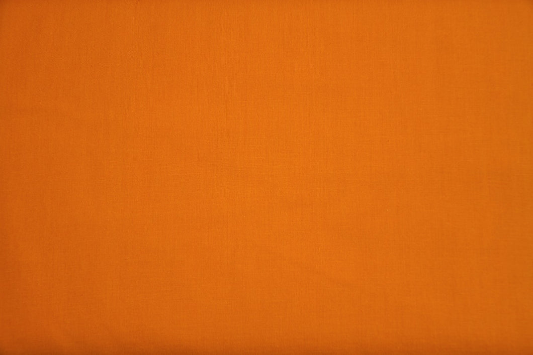 Tangerine 100% Cotton Carolina Broadcloth - By the Yard