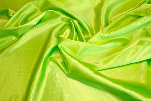 Lime Charmeuse Satin Fabric