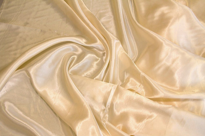 Champagne Charmeuse Satin Fabric