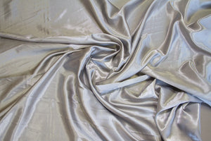 Silver Charmeuse Satin Fabric