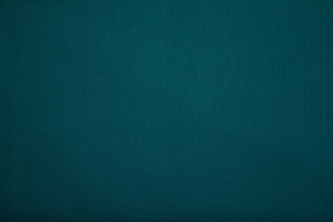 Teal 100% Cotton Carolina Broadcloth - By the Yard