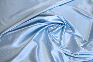 Baby Blue Charmeuse Satin--WHOLESALE FABRIC--15 Yard Bolt