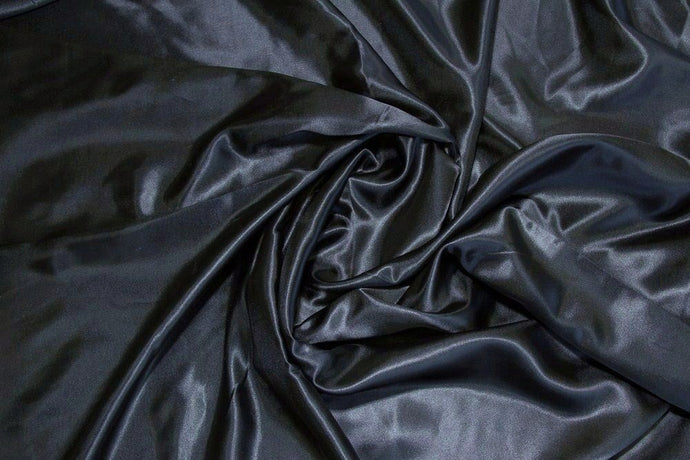 Black Charmeuse Satin--WHOLESALE FABRIC--15 Yard Bolt