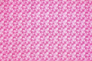 Pink Bubbles Double Napped Flannel