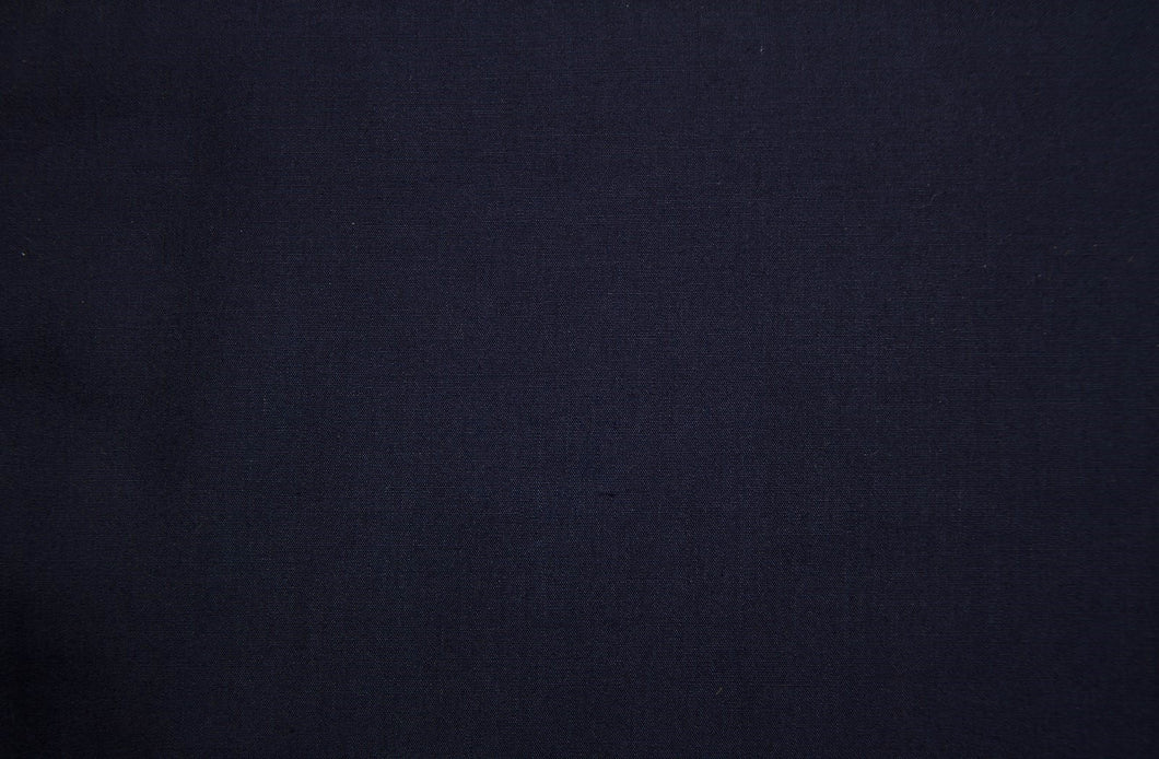 Navy Polycotton Liberty Broadcloth - WHOLESALE FABRIC - 20 Yard Bolt