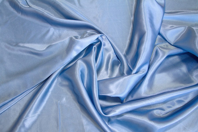 Sky Blue Charmeuse Satin--WHOLESALE FABRIC--15 Yard Bolt