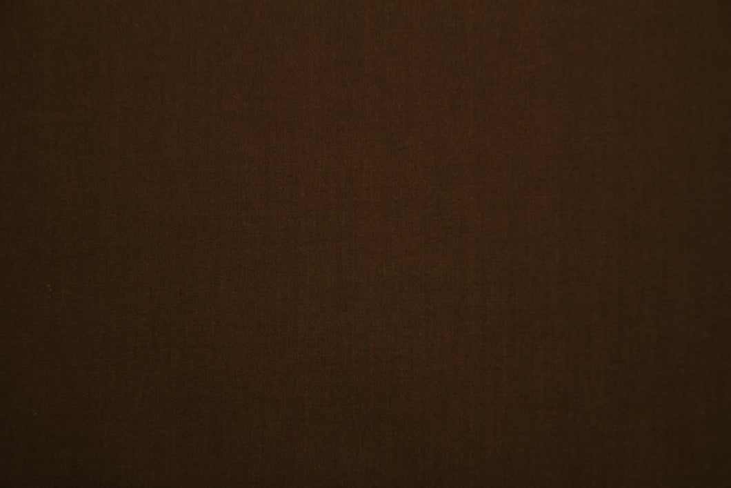 Dark Brown Polycotton Liberty Broadcloth - WHOLESALE FABRIC - 20 Yard Bolt