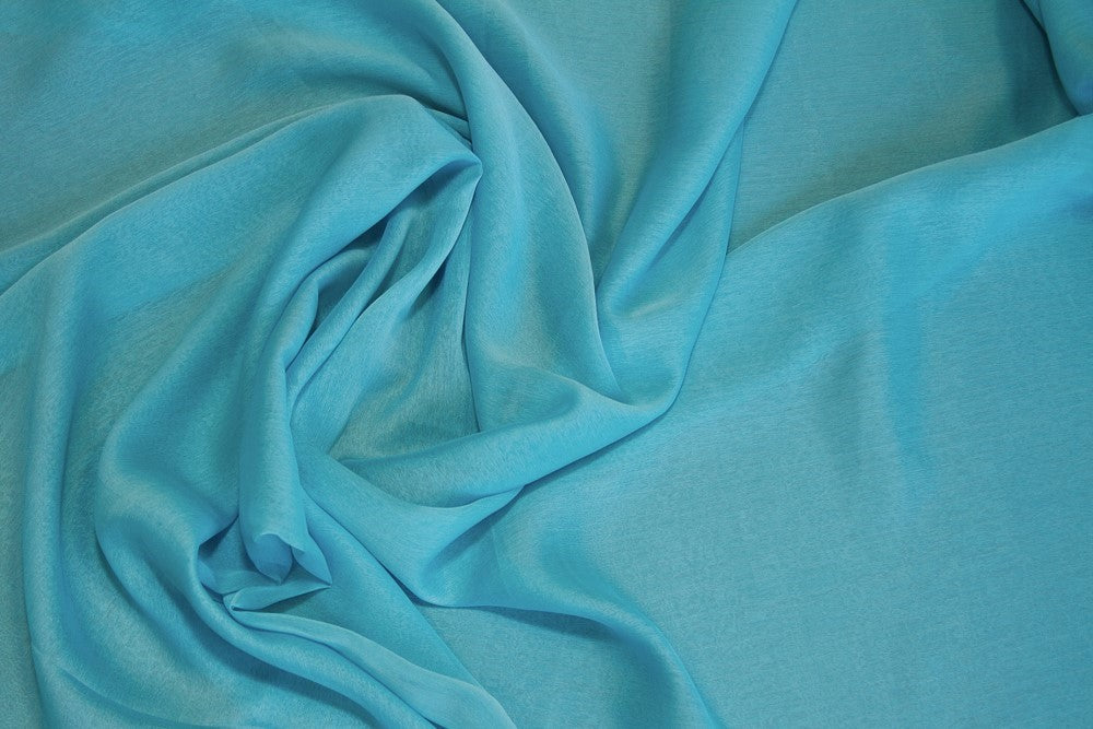 Aqua/Turquoise Two Tone Chiffon Fabric