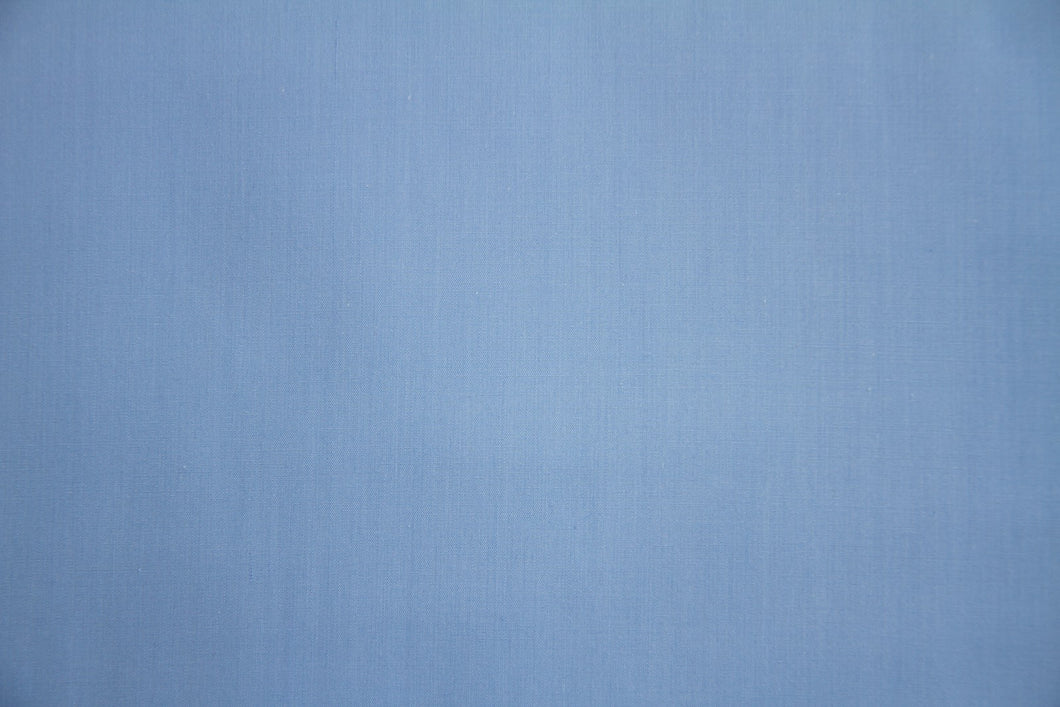 Medium Blue Polycotton Liberty Broadcloth - WHOLESALE FABRIC - 20 Yard Bolt