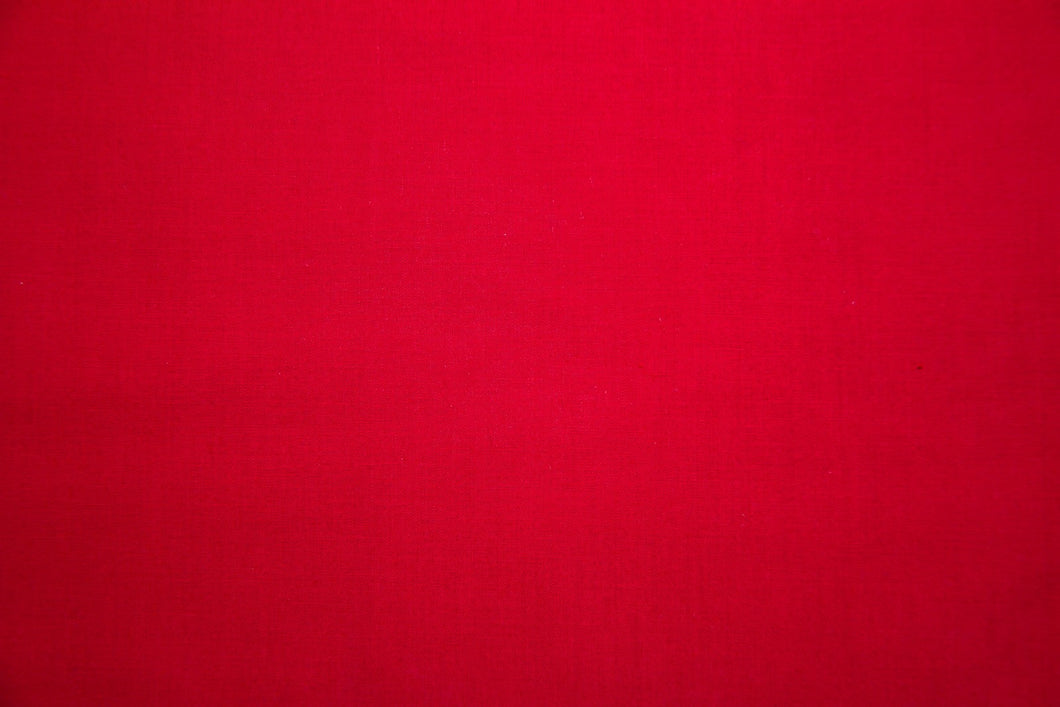Red 100% Cotton Carolina Broadcloth - By the Yard