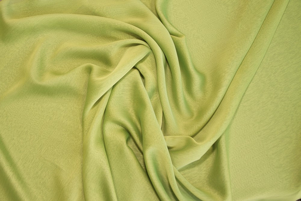 Sage/Lime Two Tone Chiffon - WHOLESALE FABRIC - 15 Yard Bolt