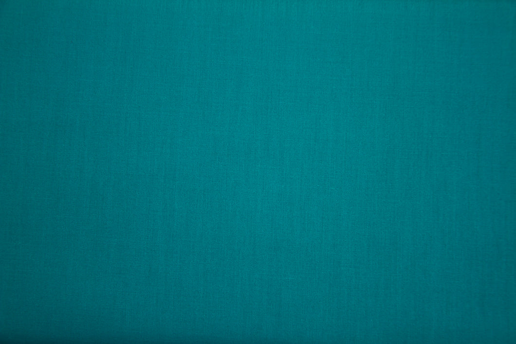 Teal Polycotton Liberty Broadcloth - WHOLESALE FABRIC - 20 Yard Bolt