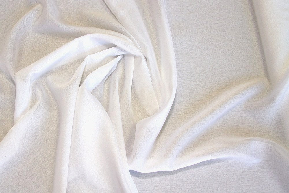 White Two Tone Chiffon Fabric
