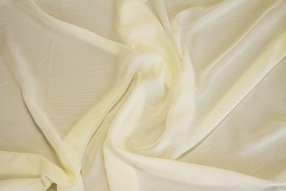 Dark Ivory Two Tone Chiffon - WHOLESALE FABRIC - 15 Yard Bolt