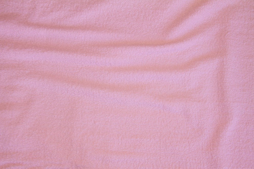 Pink Terry Cloth - WHOLESALE FABRIC - 15 Yard Bolt