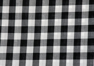 "1"" Black Gingham Fabric"