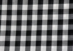 "1"" Black Gingham - WHOLESALE FABRIC - 20 Yard Bolt"