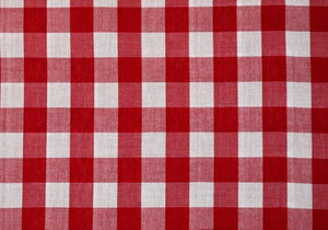 "1"" Red Gingham-WHOLESALE FABRIC- 20 Yard Bolt"