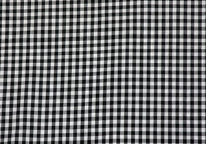 "1/4"" Black Gingham - WHOLESALE FABRIC - 20 Yard Bolt"