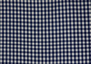 "1/4"" Navy Gingham Fabric"