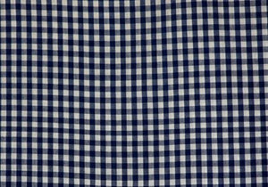 "1/4"" Navy Gingham - WHOLESALE FABRIC - 20 Yard Bolt"