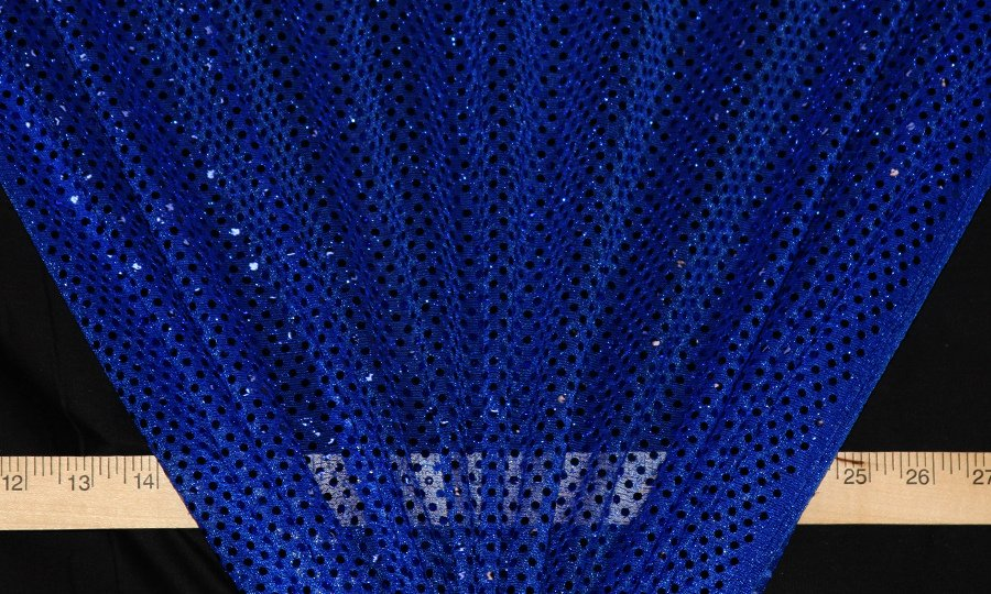 Royal Blue Dot Sequin Knit - WHOLESALE FABRIC - 12 Yard Bolt