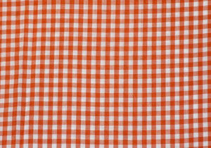 "1/4"" Orange Gingham - WHOLESALE FABRIC - 20 Yard Bolt"