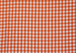 "1/4"" Orange Gingham Fabric"