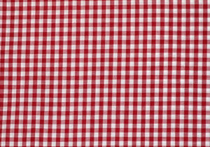 "1/4"" Red Gingham - WHOLESALE FABRIC - 20 Yard Bolt"