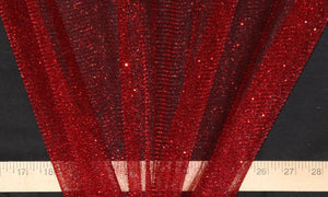 Burgundy Sparkle Glitter Tulle - WHOLESALE FABRIC - 15 Yard Bolt