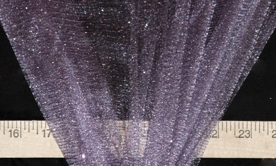 Lilac Sparkle Glitter Tulle - WHOLESALE FABRIC - 15 Yard Bolt