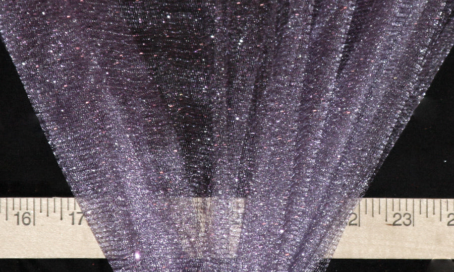 Lilac Sparkle Glitter Tulle Fabric
