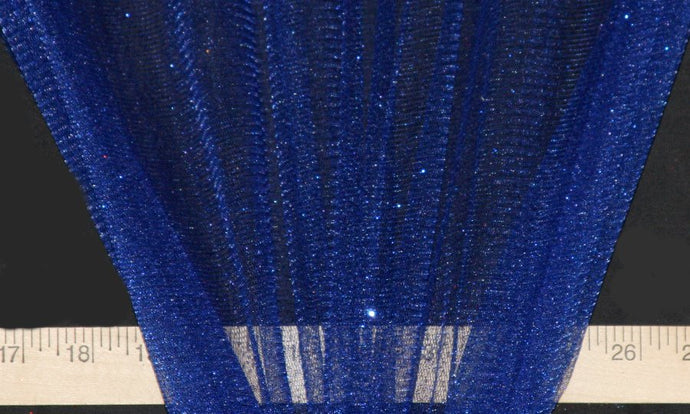 Royal Blue Sparkle Glitter Tulle - WHOLESALE FABRIC - 15 Yard Bolt