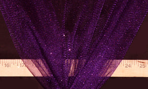 Purple Sparkle Glitter Tulle Fabric