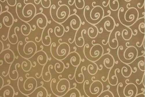 Discount Fabric JACQUARD Antique Gold Swirl Drapery