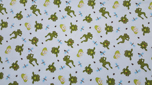 Frog & Lily Pad Flannel Fabric - 8 Yard Bolt