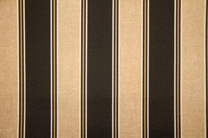 "55"" Black & Taupe Striped Indoor & Outdoor Fabric"