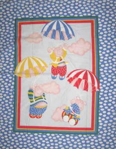 Flying Pigs 100% Cotton Baby Panel Fabric