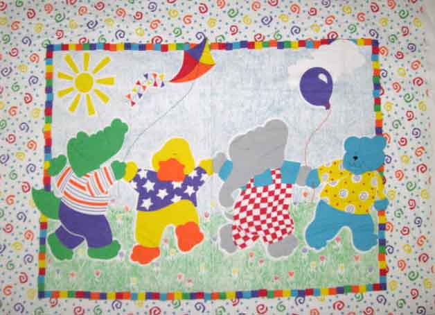 Spring Dance 100% Cotton Baby Panel Fabric