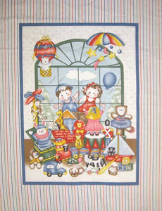 Toy Time 100% Cotton Baby Panel Fabric