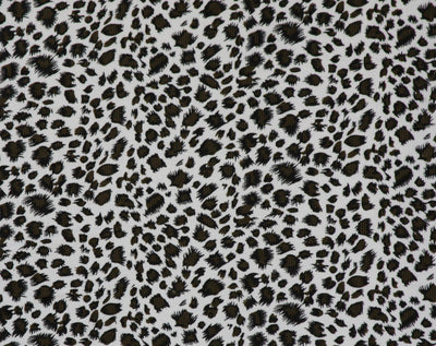 Black & White Leopard Corduroy Fabric