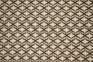 Discount Fabric DRAPERY Taupe & Beige X Ribbon
