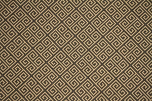"56"" Gray & Honey Diamond Maze Drapery Fabric - SALE FABRIC - 5 Yards"