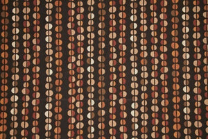 "56"" Multi Brown & Rust Pebbles Drapery Fabric - SALE FABRIC - 5 Yards"