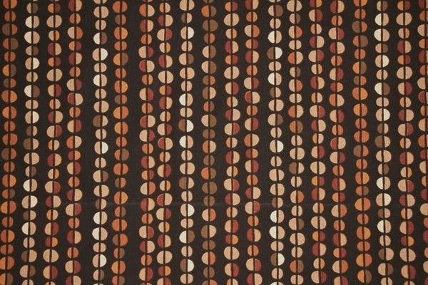 Discount Fabric DRAPERY Multi Brown & Rust Pebbles