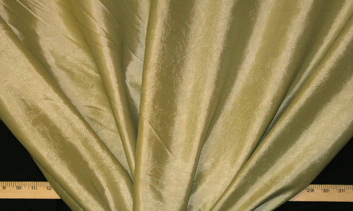 Beige Crushed Taffeta Fabric