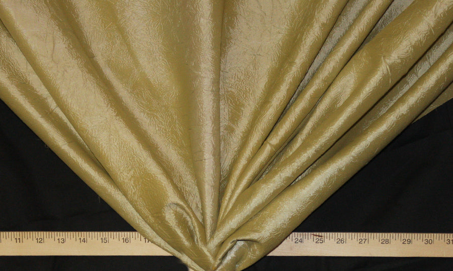 Muted Gold Crushed Taffeta Fabric